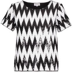 衣服 女士 短袖体恤 American Retro GEGE 黑色 / 白色
