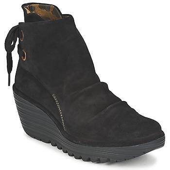 鞋子 女士 短靴 Fly London YAMA 黑色