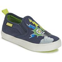 鞋子 男孩 平底鞋 Geox 健乐士 KIWI B. D 蓝色 / 绿色