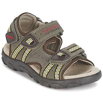 鞋子 男孩 运动凉鞋 Geox 健乐士 S.STRADA A 棕色 / 驼色