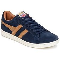 鞋子 男士 球鞋基本款 Gola EQUIPE SUEDE 海蓝色 / 棕色