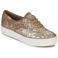 鞋子 女士 球鞋基本款 Keds TRIPLE GLITTER 金色