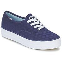鞋子 女士 球鞋基本款 Keds TRIPLE EYELET 海蓝色