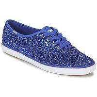 鞋子 女士 球鞋基本款 Keds CHAMPION GLITTER 蓝色