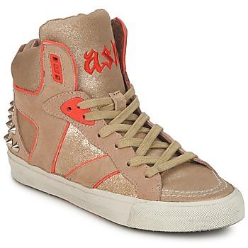 鞋子 女士 高帮鞋 Ash 艾熙 SPIRIT 米色 / 金色 / 橙色