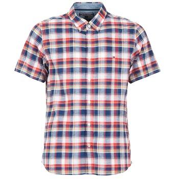 衣服 男士 短袖衬衫 Tommy Hilfiger FRENCH CHK 海蓝色 / 红色