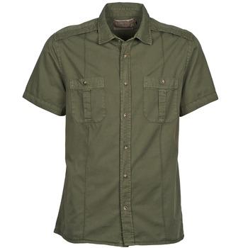 衣服 男士 短袖衬衫 Chevignon C MILITARY TWIL 绿色