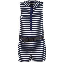 衣服 女士 连体衣/连体裤 Petit Bateau 小帆船 FAITOUT 海蓝色 / 白色