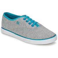 鞋子 女士 球鞋基本款 Dorotennis C1 TENNIS RICHELIEU LACETS SEMELL JERSEY 灰色 / 松石绿