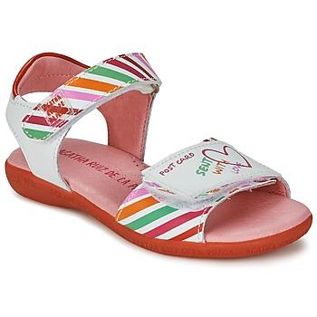 鞋子 女孩 凉鞋 Agatha Ruiz de la Prada 阿嘉莎·鲁兹·德 CAZOLETA 白色 / 多彩