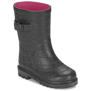 鞋子 女孩 雨靴 Be Only CROCO 黑色