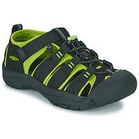 鞋子 男孩 运动凉鞋 Keen KIDS NEWPORT H2 黑色 / 绿色