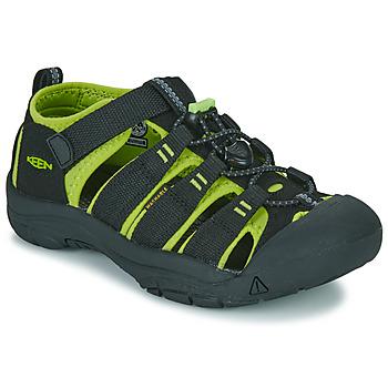 鞋子 儿童 运动凉鞋 Keen KIDS NEWPORT H2 黑色 / 绿色