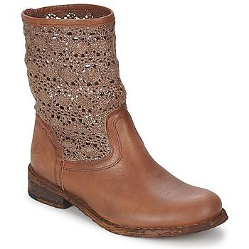 鞋子 女士 短筒靴 Felmini GREDO 巧克力色