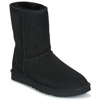 鞋子 女士 短筒靴 UGG CLASSIC SHORT 黑色