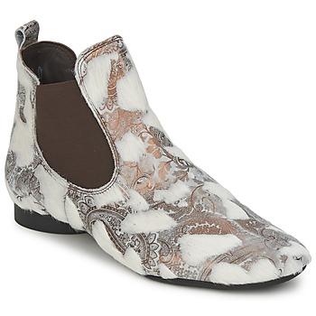 鞋子 女士 短筒靴 Think ASSAM 米色