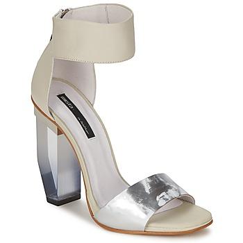 鞋子 女士 凉鞋 Miista JAYDA 白色 / 银色