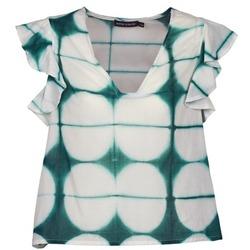 衣服 女士 短袖体恤 Antik Batik BAB 白色 / 绿色