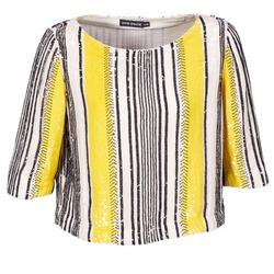 衣服 女士 女士上衣/罩衫 Antik Batik ZABOU 黄色 / 白色 / 黑色