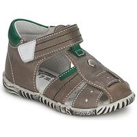 鞋子 男孩 凉鞋 Primigi QUINCY 灰色 / 绿色