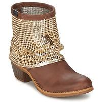 鞋子 女士 短靴 Bunker RIA Strass 灰褐色 / 金色