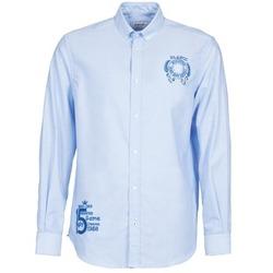 衣服 男士 長袖襯衫 Serge Blanco ANTONIO 藍色