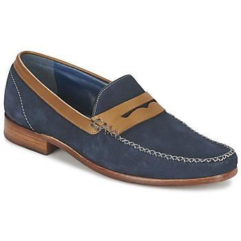 鞋子 男士 皮便鞋 Barker WILLIAM 海蓝色