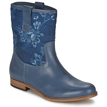 鞋子 女士 短筒靴 Alba Moda FALINA 蓝色