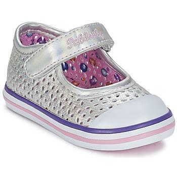 鞋子 女孩 平底鞋 Pablosky JILENA 银色 / 玫瑰色