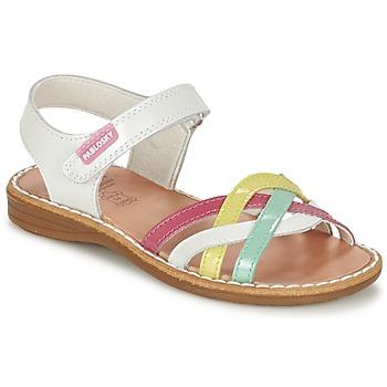 鞋子 女孩 凉鞋 Pablosky ATINA 白色 / 多彩