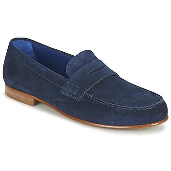 鞋子 男士 皮便鞋 Azzaro 阿莎露 GOURIAN 海蓝色