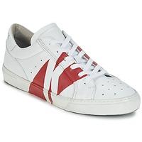 鞋子 男士 球鞋基本款 Bikkembergs RUBB-ER 668 LEATHER 白色 / 红色