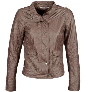 衣服 女士 皮夹克/ 人造皮革夹克 DDP GIRUP 棕色