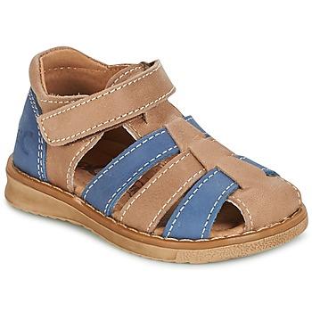 鞋子 男孩 凉鞋 Citrouille et Compagnie FRINOUI 棕色 / 蓝色