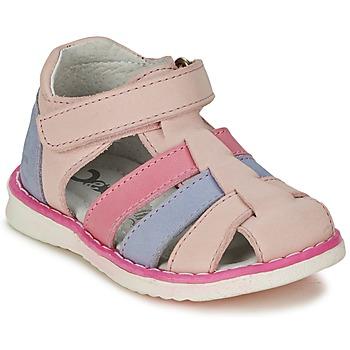 鞋子 女孩 凉鞋 Citrouille et Compagnie FRINOUI 玫瑰色 / 蓝色 / 米色 / 紫红色