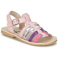 鞋子 女孩 凉鞋 Citrouille et Compagnie JASMA 玫瑰色 / 紫罗兰