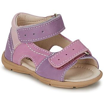 鞋子 女孩 凉鞋 Citrouille et Compagnie KIMMY G 淡紫色 / 紫罗兰 / 裸色