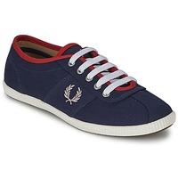鞋子 女士 球鞋基本款 Fred Perry HAYES CANVAS 蓝色