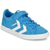 鞋子 儿童 球鞋基本款 Hummel DEUCE COURT JR 蓝色