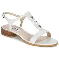 鞋子 女士 凉鞋 Clarks 其乐 BLISS SHIMMER 白色