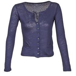 衣服 女士 羊毛开衫 Majestic BATHILDE 蓝色