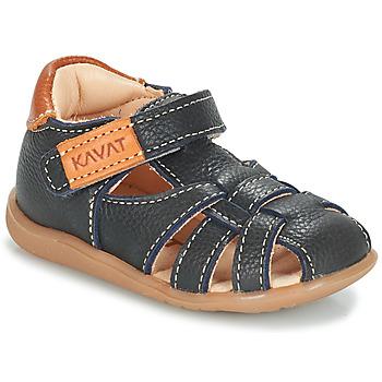 鞋子 男孩 凉鞋 Kavat RULLSAND 蓝色 / 海蓝色