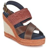鞋子 女士 凉鞋 Napapijri BELLE 棕色 / Fonce / 红色