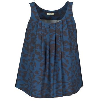 衣服 女士 無領短袖套衫/無袖T恤 Lola CUBA 藍色 / 黑色