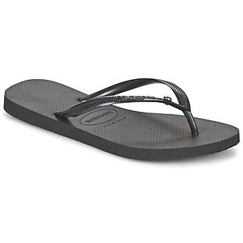 鞋子 女士 人字拖 Havaianas 哈瓦那 SLIM CRYSTAL GLAMOUR SWAROVSKI 黑色