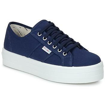 鞋子 女士 球鞋基本款 Victoria 维多利亚 BLUCHER LONA PLATAFORMA 海蓝色