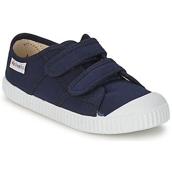 鞋子 儿童 球鞋基本款 Victoria 维多利亚 BLUCHER LONA DOS VELCROS 海蓝色
