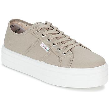 鞋子 女士 球鞋基本款 Victoria 维多利亚 BLUCHER LONA PLATAFORMA 米色