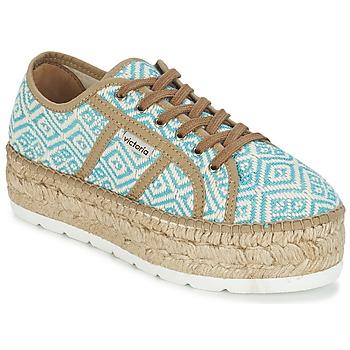 鞋子 女士 球鞋基本款 Victoria 维多利亚 BASKET ETNICO PLATAFORMA 蓝色 / 米色