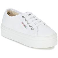 鞋子 女孩 球鞋基本款 Victoria 维多利亚 BASKET LONA PLATAFORMA KIDS 白色